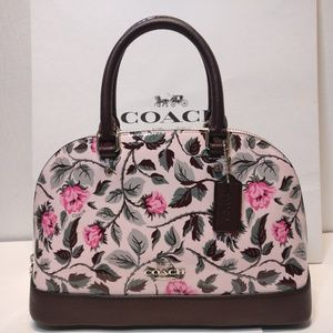 COACH-Mini Sierra SatchelSLEEPING-ROSE Patent